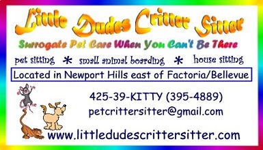 Critter Sitter business card